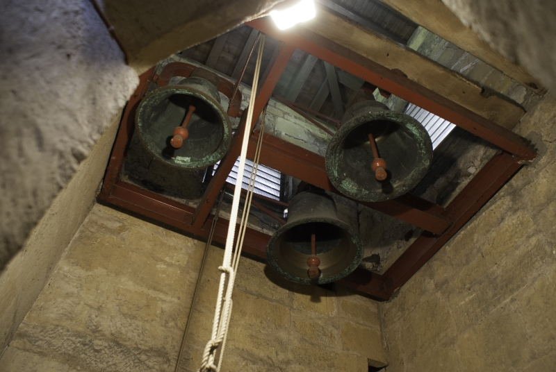 It is easy to see which of the bells is used most.